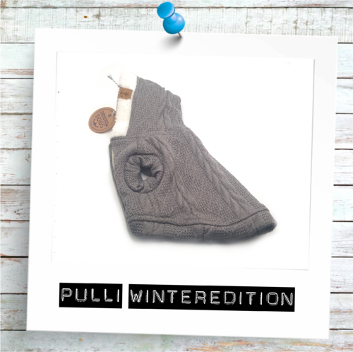 Hunde-Pullover Zopfmuster grau WINTEREDITION